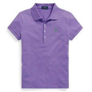 Polo Sport Girls Purple Stretch Piqué Polo Shirt